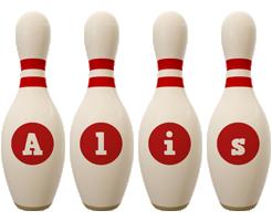 Alis bowling-pin logo
