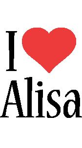 Alisa i-love logo