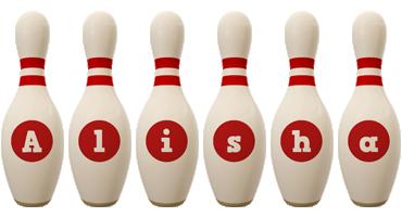 Alisha bowling-pin logo