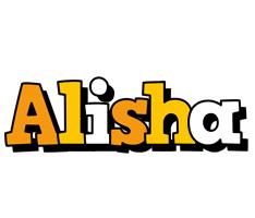 Alisha cartoon logo