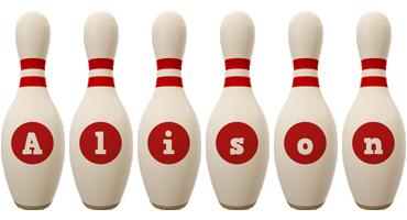 Alison bowling-pin logo