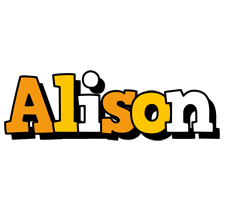 Alison cartoon logo