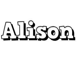 Alison snowing logo