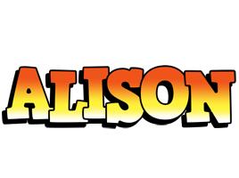 Alison sunset logo