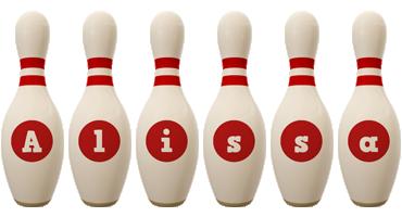 Alissa bowling-pin logo