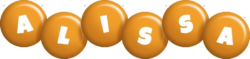 Alissa candy-orange logo