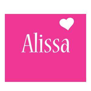 Alissa love-heart logo