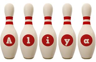 Aliya bowling-pin logo