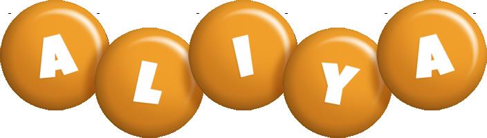 Aliya candy-orange logo