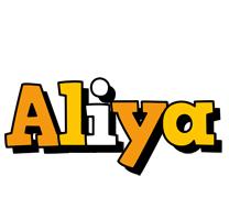 Aliya cartoon logo