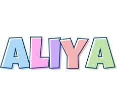 Aliya pastel logo