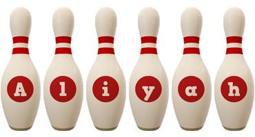Aliyah bowling-pin logo