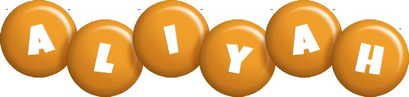 Aliyah candy-orange logo