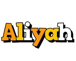 Aliyah cartoon logo