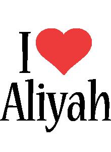 Aliyah i-love logo