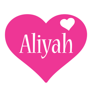 Aliyah love-heart logo