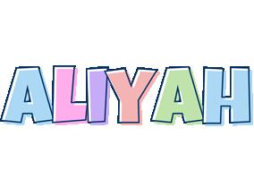 Aliyah pastel logo