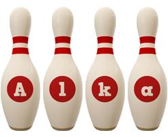 Alka bowling-pin logo