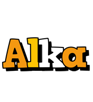 Alka cartoon logo