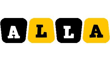 Alla boots logo