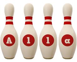 Alla bowling-pin logo