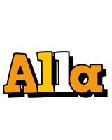 Alla cartoon logo