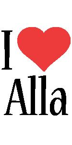 Alla i-love logo