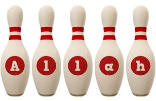 Allah bowling-pin logo