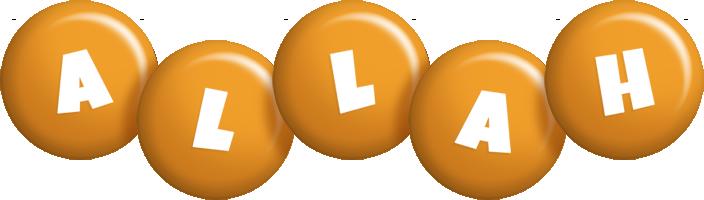 Allah candy-orange logo