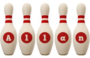 Allan bowling-pin logo