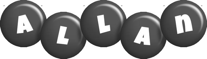 Allan candy-black logo
