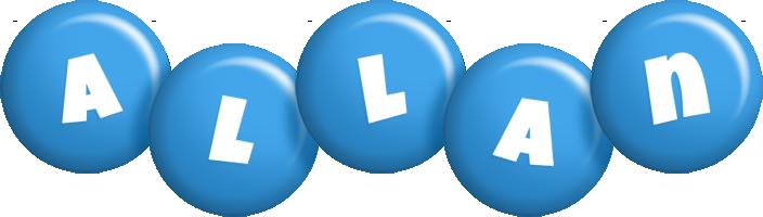 Allan candy-blue logo
