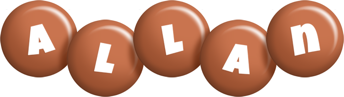 Allan candy-brown logo
