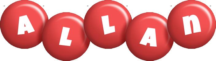 Allan candy-red logo