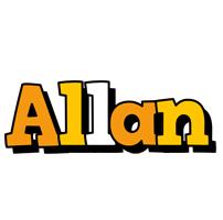 Allan cartoon logo