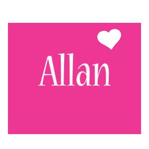 Allan love-heart logo