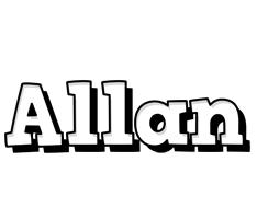Allan snowing logo