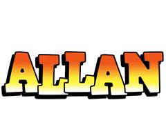 Allan sunset logo