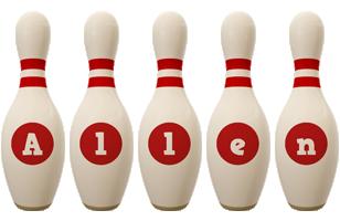 Allen bowling-pin logo