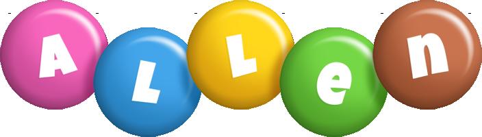 Allen candy logo