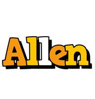 Allen cartoon logo