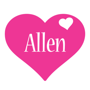 Allen love-heart logo