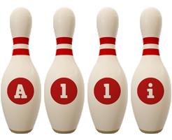 Alli bowling-pin logo