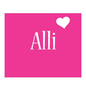 Alli love-heart logo