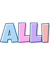 Alli pastel logo