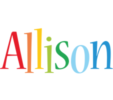 Allison birthday logo