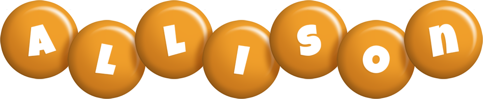 Allison candy-orange logo