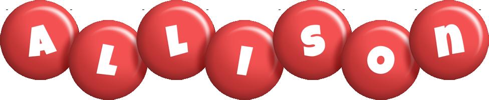 Allison candy-red logo