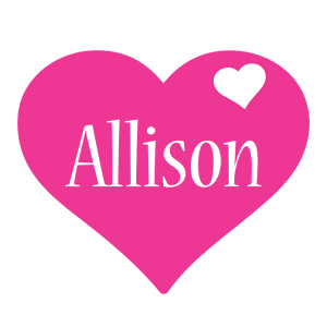 Allison love-heart logo