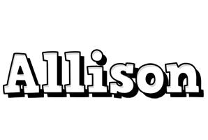 Allison snowing logo